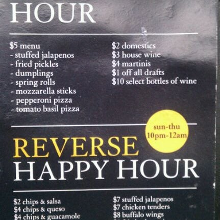 Awesome happy hour prices