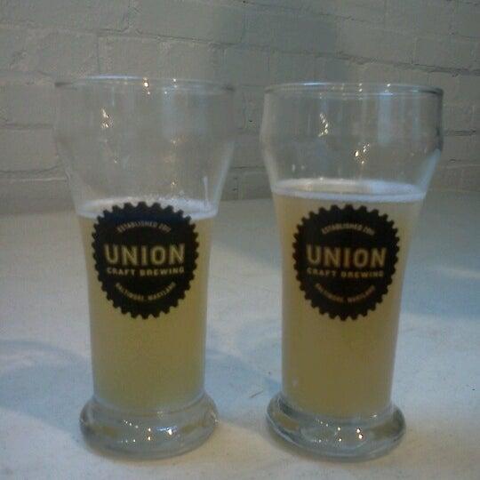Photo taken at Union Craft Brewing by cori b. on 7/28/2012