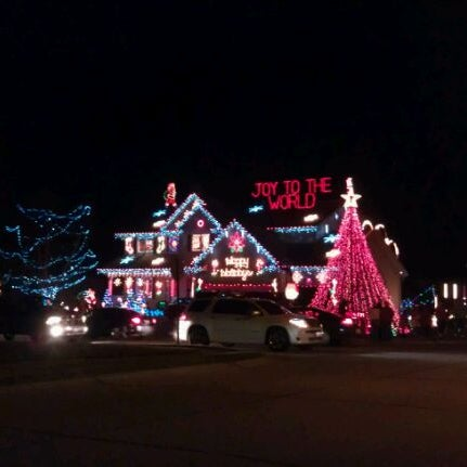Photo taken at West Omaha Christmas Lights Display by Jeff B. on 12/24