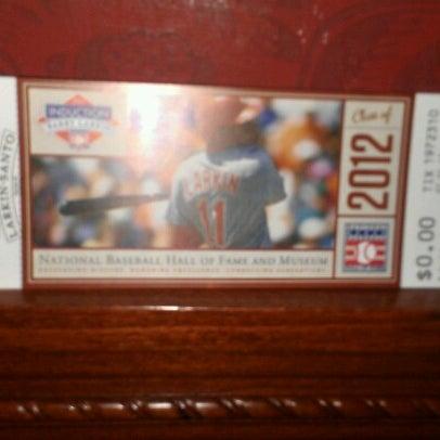 7/22/2012 tarihinde Alex F.ziyaretçi tarafından National Baseball Hall of Fame and Museum'de çekilen fotoğraf