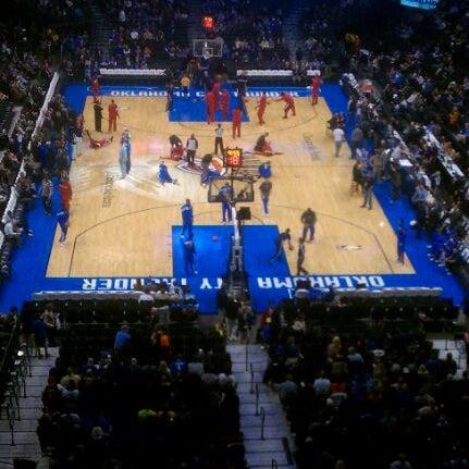 Das Foto wurde bei Chesapeake Energy Arena von Nick S. am 1/4/2012 aufgenommen