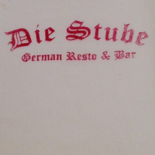 Снимок сделан в Die Stube German Bar & Resto пользователем Ferdynand P. 3/17/2012