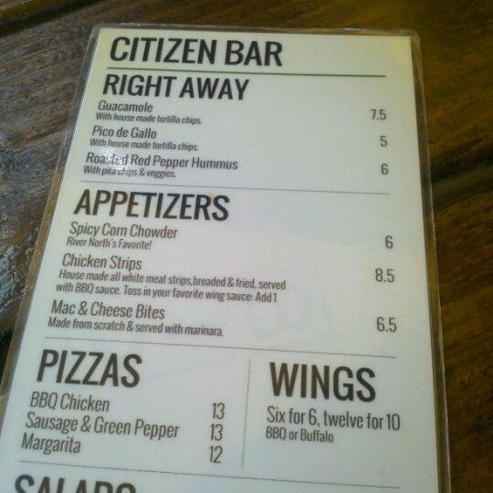 Photo prise au Citizen Bar Chicago par Andrew S. le9/8/2012