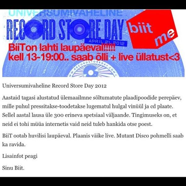 Снимок сделан в Biit Me Record Store / Oü Biitmii пользователем Madis N. 4/17/2012
