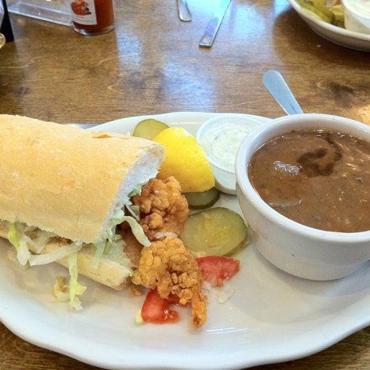 Photo taken at Mandina's Restaurant by Jeff W. on 3/16/2012