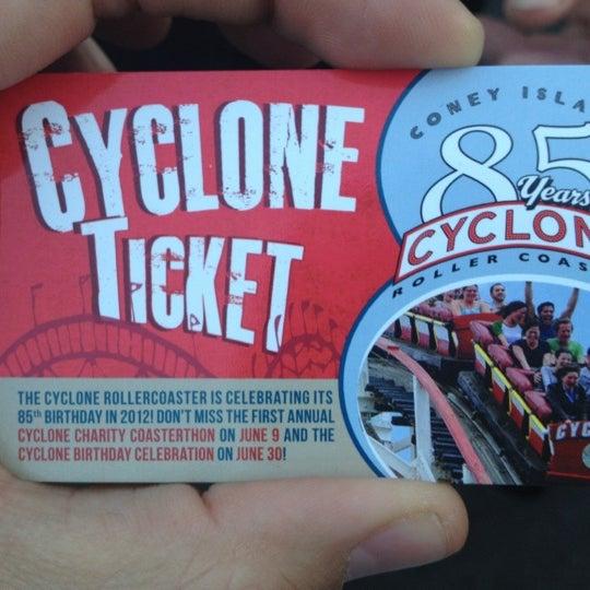 Foto tomada en The Cyclone por Mauricio G. el 4/8/2012