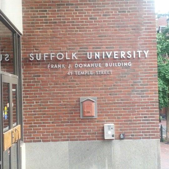 Suffolk University 41 Temple Street Sham Store