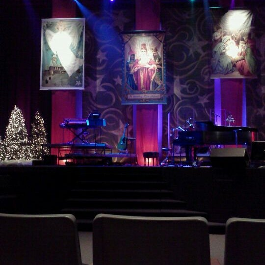Photo taken at Eastview Christian Church by Aaron K. on 12/24/2011