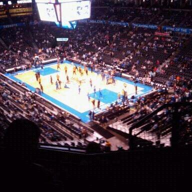 Das Foto wurde bei Chesapeake Energy Arena von Nate F. am 1/15/2012 aufgenommen