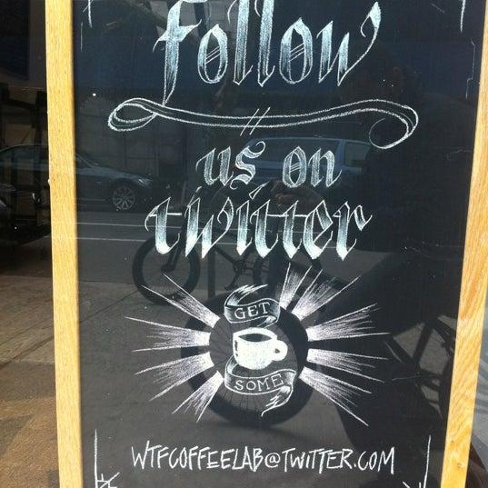 Photo prise au WTF Coffee Lab par Miguel F. le3/15/2012