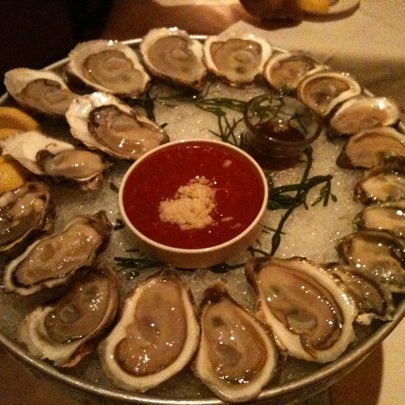 Freshest Oysters! Get the Blue Point, La St. Simon, Raspberry Point & Canoe Lagoon. The truffle crusted cod is also a must try. It's one of my favorite NYC restaurants
