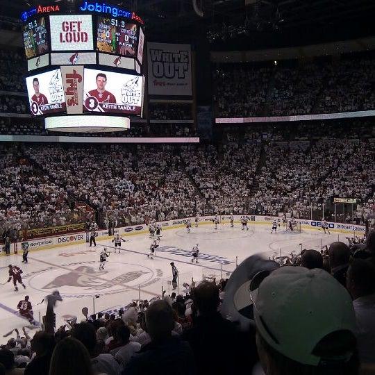 4/22/2012 tarihinde A T.ziyaretçi tarafından Gila River Arena'de çekilen fotoğraf