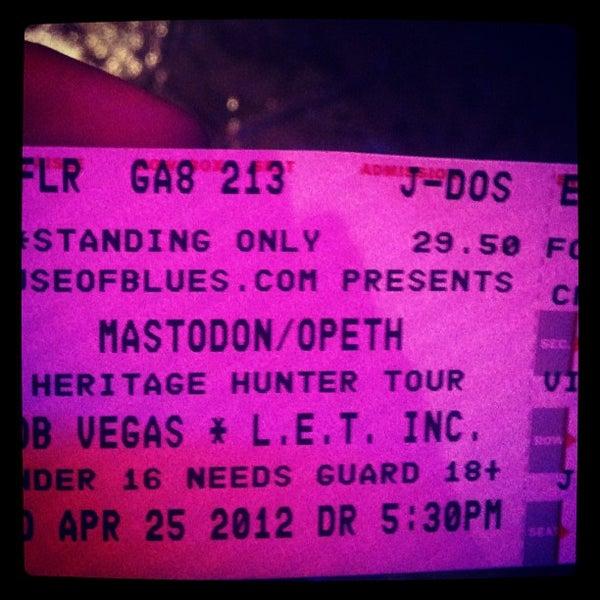 Снимок сделан в House of Blues пользователем Ryan O. 4/26/2012