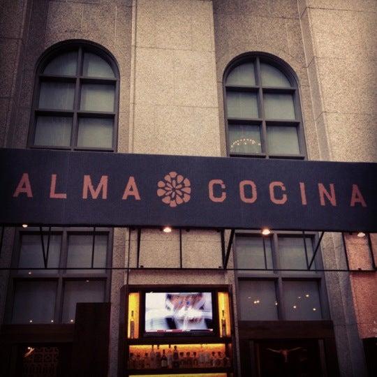 Снимок сделан в Alma Cocina пользователем Jake G. 9/1/2012