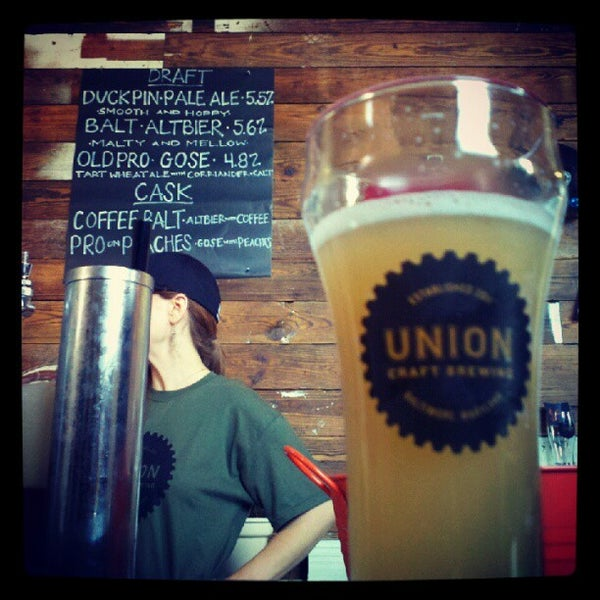 Photo taken at Union Craft Brewing by Jason F. on 7/28/2012