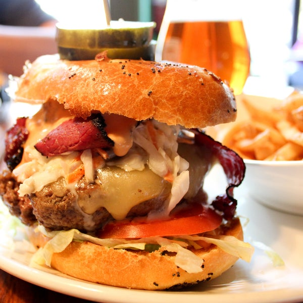 The One Eye and Texas Burger are two of the best burgs around, but don't sleep on the brand-new Boss of the Sauce with pastrami, swiss, coleslaw and 1000 island. It's huge and spectacular.
