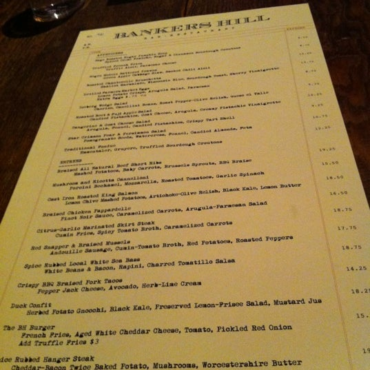 รูปภาพถ่ายที่ Bankers Hill Bar & Restaurant โดย Veronica Z. เมื่อ 12/17/2011