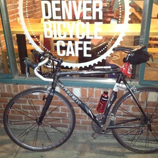 Photo taken at Denver Bicycle Cafe by Tim J. on 4/26/2012