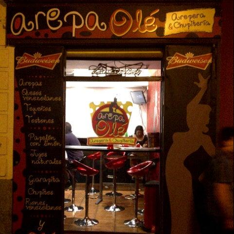 """7/21/2012 tarihinde Alberto S.ziyaretçi tarafından Arepa Olé """"Chueca""""'de çekilen fotoğraf"""