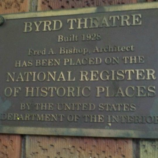 Photo prise au The Byrd Theatre par Brian A. le8/9/2012