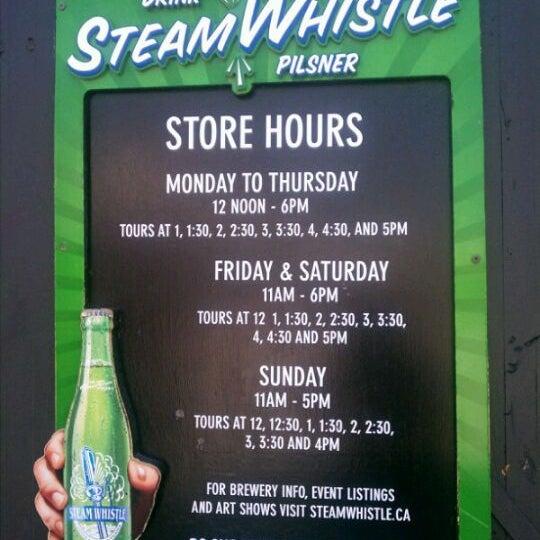 9/5/2011 tarihinde Fanny G.ziyaretçi tarafından Steam Whistle Brewing'de çekilen fotoğraf