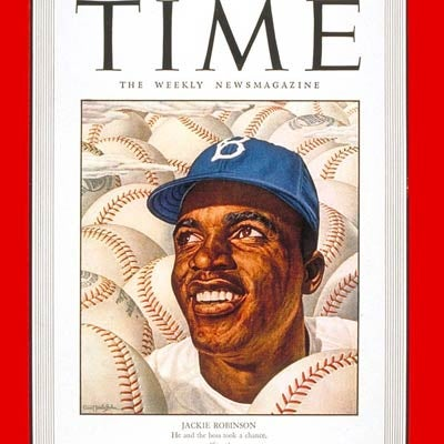 On September 22, 1947, TIME payed homage to baseball star Jackie Robinson with this cover, which marked his debut season with the Brooklyn Dodgers.