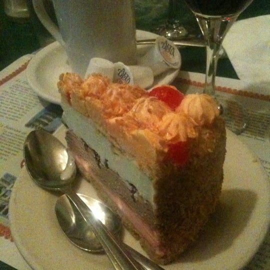 Try the spumoni pie slice for dessert. Enough for several people!
