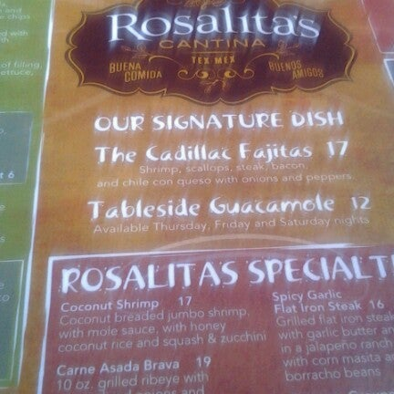 Photo prise au Rosalita's Cantina par Chrystal C. le7/4/2012