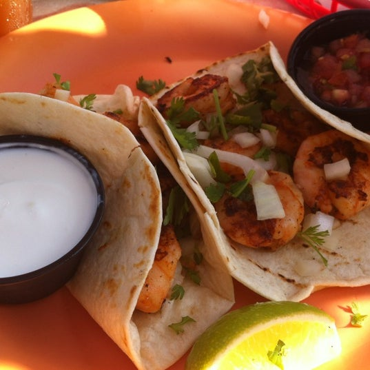 The shrimp tacos are delish.