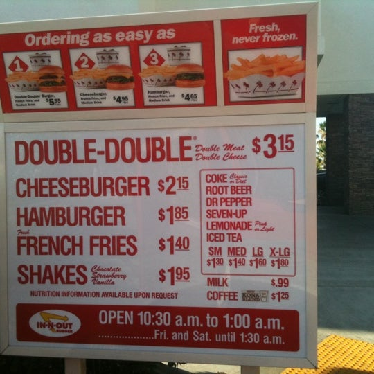 In-N-Out Burger - 22 tips