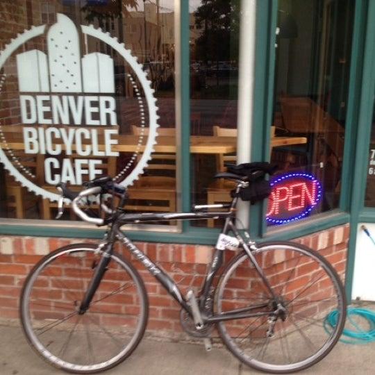 Photo taken at Denver Bicycle Cafe by Tim J. on 8/7/2012