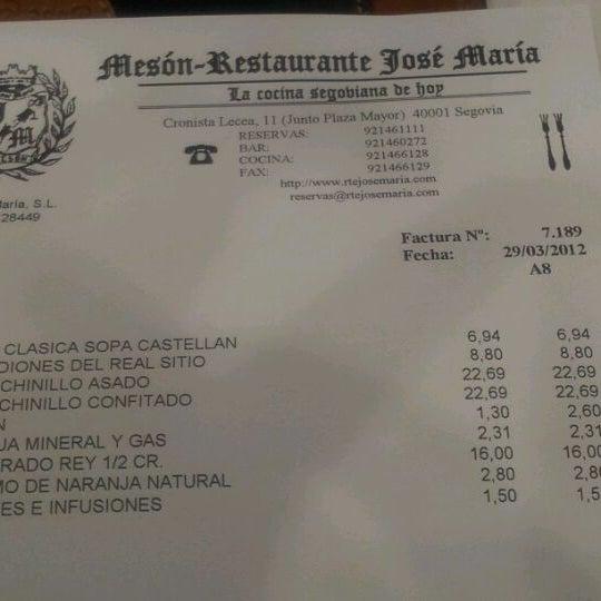 3/29/2012에 pota blava S.님이 Restaurante José María에서 찍은 사진