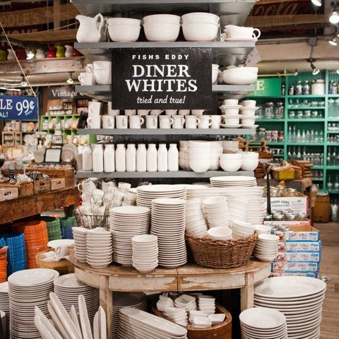 The perfect antidote to gorgeous but expensive houseware shops, Fishs Eddy is filled with piles of unique, affordable and incredibly fun dishes and glasses...Secret-> Their products make people smile