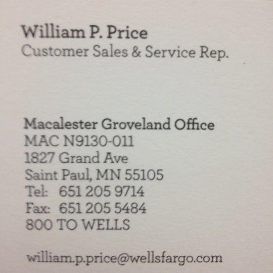 Wells Fargo Bank In Macalester Groveland
