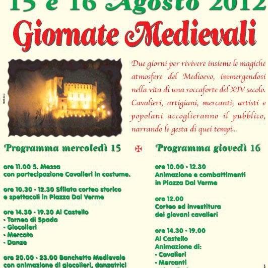 Non vedo l'ora di partecipare il 15 e 16 agosto alle giornate medievali con tornei, giocolieri e banchetto medievale!!!