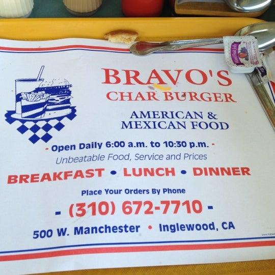 bravos burgers inglewood menu