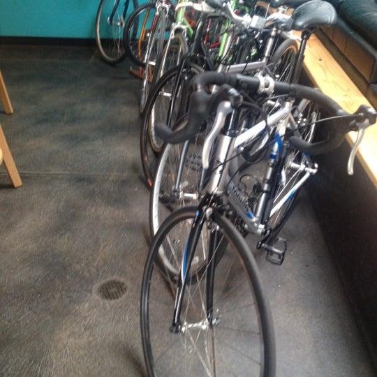 Photo taken at Denver Bicycle Cafe by Tim J. on 4/28/2012