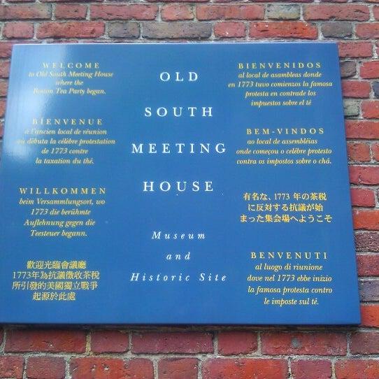 7/24/2012 tarihinde Jeff L.ziyaretçi tarafından Old South Meeting House'de çekilen fotoğraf