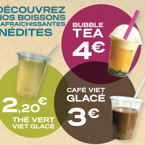 "le Bubble Tea est a 4 Eur! On a un peu envie de dire ""Le meilleur Bubble Tea de Bordeaux"" !"