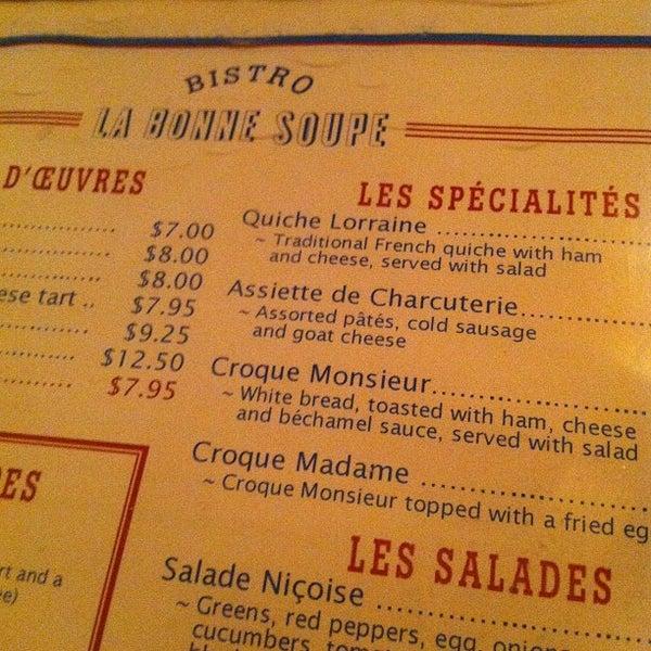 Снимок сделан в La Bonne Soupe пользователем James C. 3/6/2012