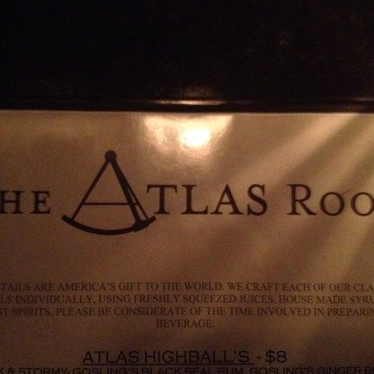 Das Foto wurde bei The Atlas Room von Miles G. am 8/18/2012 aufgenommen