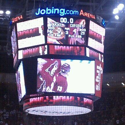 Снимок сделан в Gila River Arena пользователем Todd R. 4/1/2012