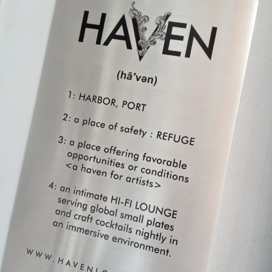 Foto tirada no(a) HaVen Gastro-Lounge por Piermichele G. em 2/29/2012