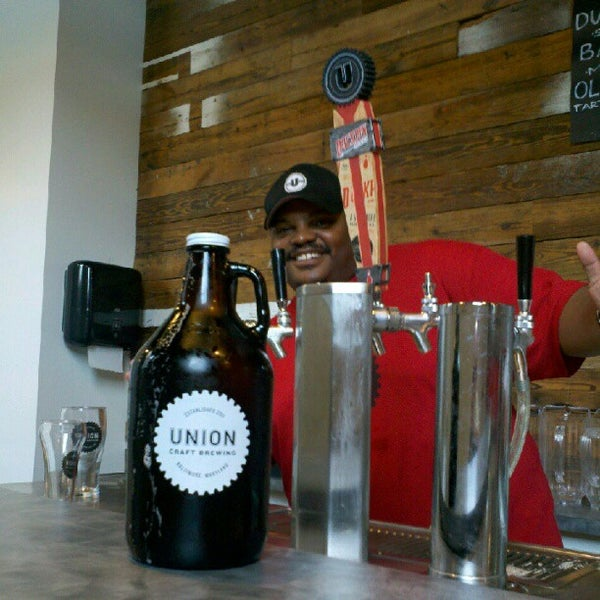 Photo taken at Union Craft Brewing by Jason F. on 8/4/2012