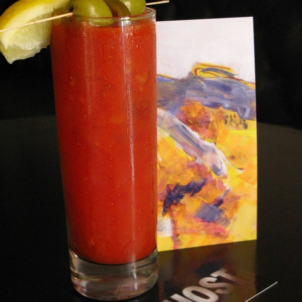 The best Bloody Mary- anywhere! Absolutely the perfect brunch with the Waldorf Chicken, Sliced Apples & Cranberry Salad!