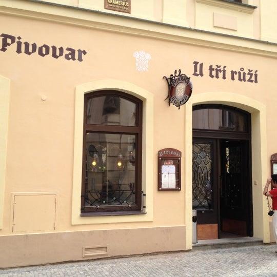 Снимок сделан в Pivovar U Tří růží пользователем Olga M. 6/17/2012