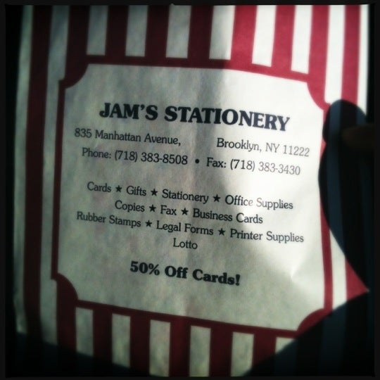 Jam's Stationary - Greenpoint - 3 tips from 37 visitors