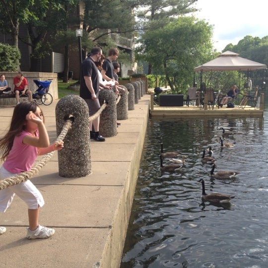 Kids love throwing bread at the ducks in the water here! On the water