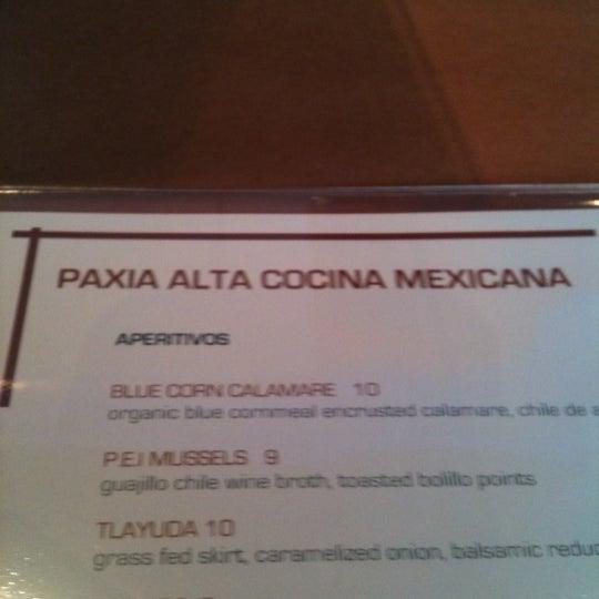 รูปภาพถ่ายที่ Paxia Alta Cocina Mexicana โดย Jerry E. เมื่อ 5/18/2012