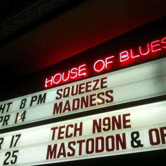 Снимок сделан в House of Blues пользователем Gonzo G. 4/14/2012